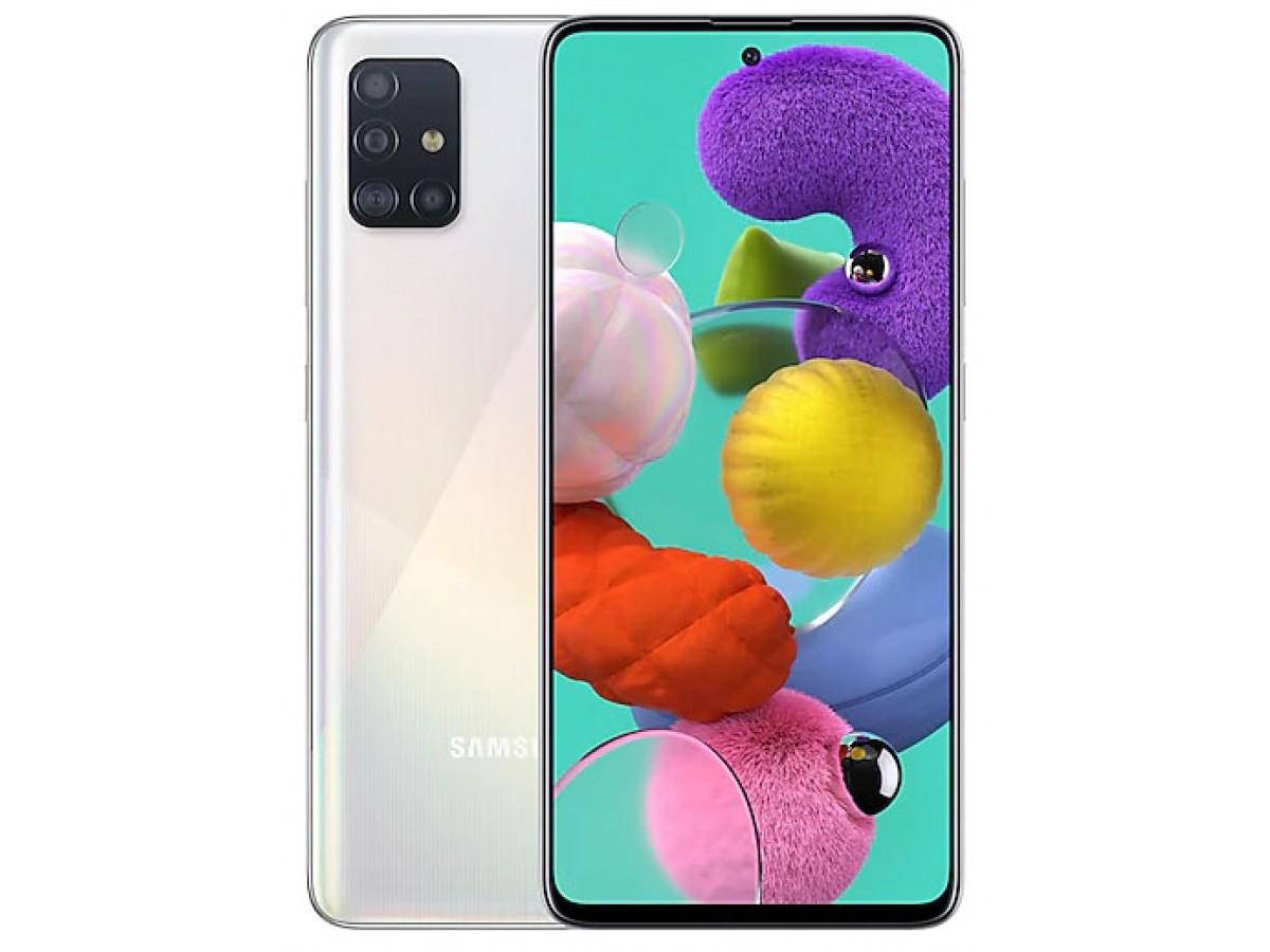 Samsung Galaxy A51 64GB белый в Тюмени