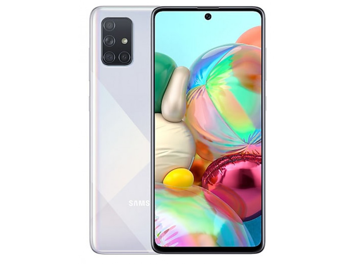 Samsung Galaxy A71 128GB серебряный в Тюмени