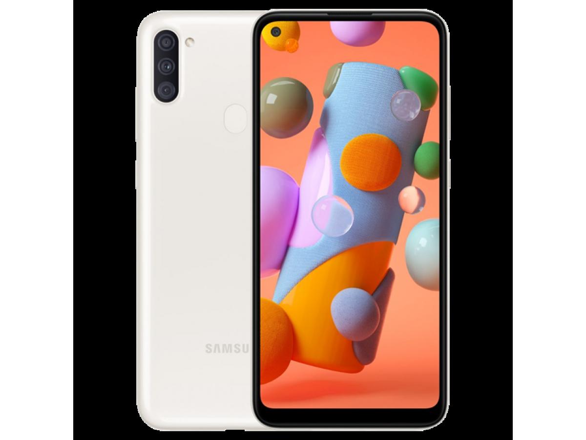 Samsung Galaxy A11 32 GB (белый) в Тюмени