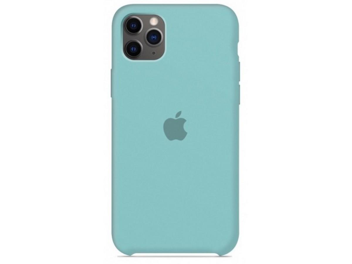 Чехол Silicone Case для iPhone 11 Pro бирюзовый в Тюмени