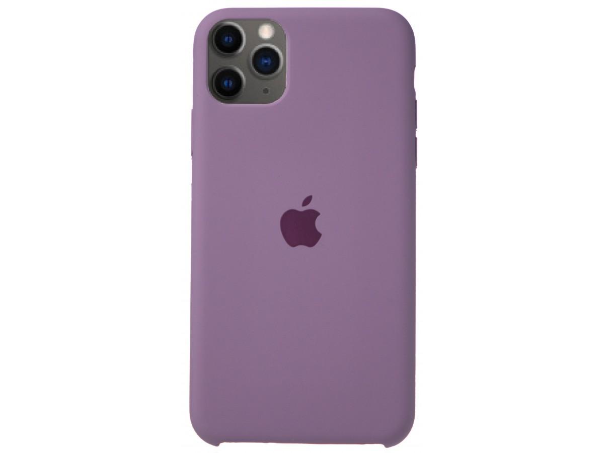 Чехол Silicone Case для iPhone 11 Pro Max черничный в Тюмени