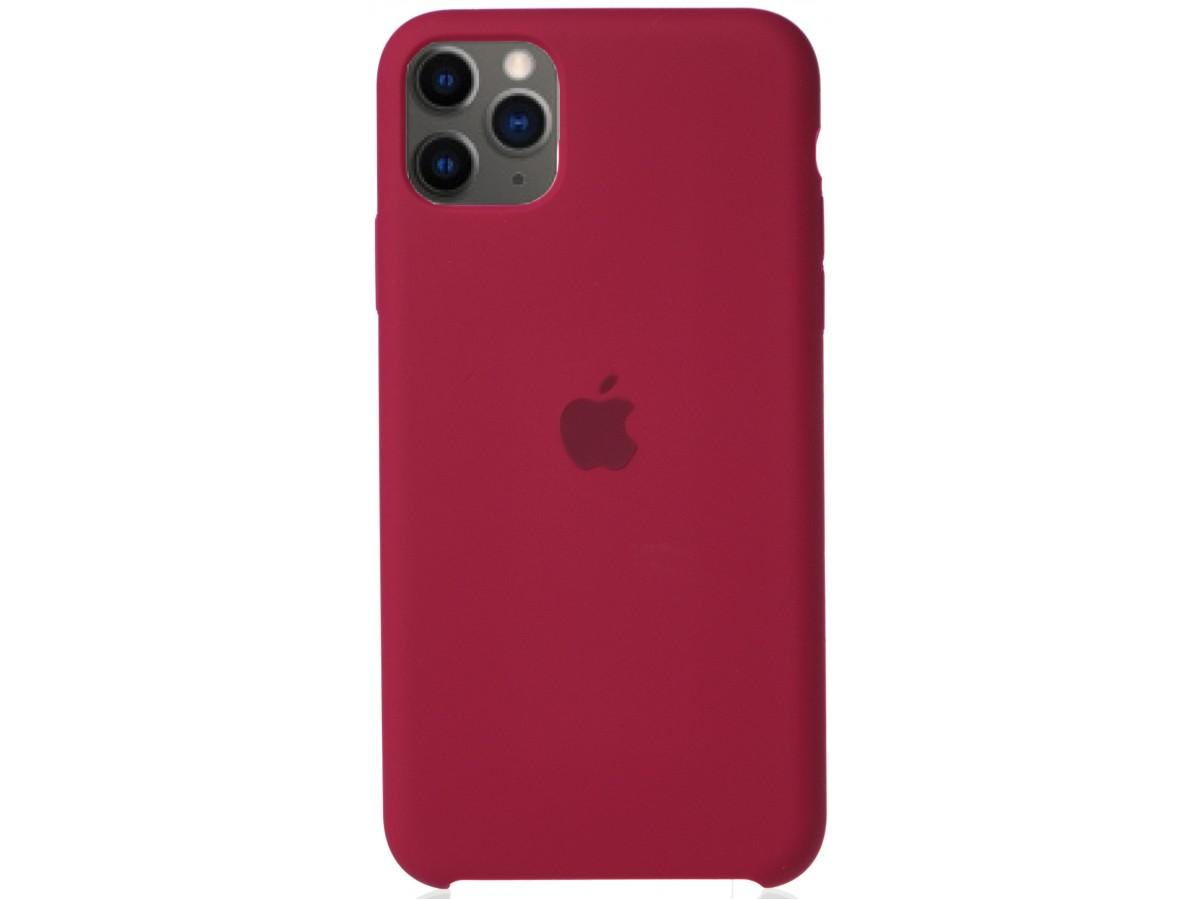 Чехол Silicone Case для iPhone 11 Pro Max малиновый в Тюмени