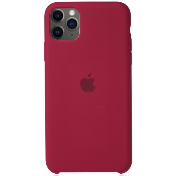 Чехол Silicone Case для iPhone 11 Pro Max малиновый