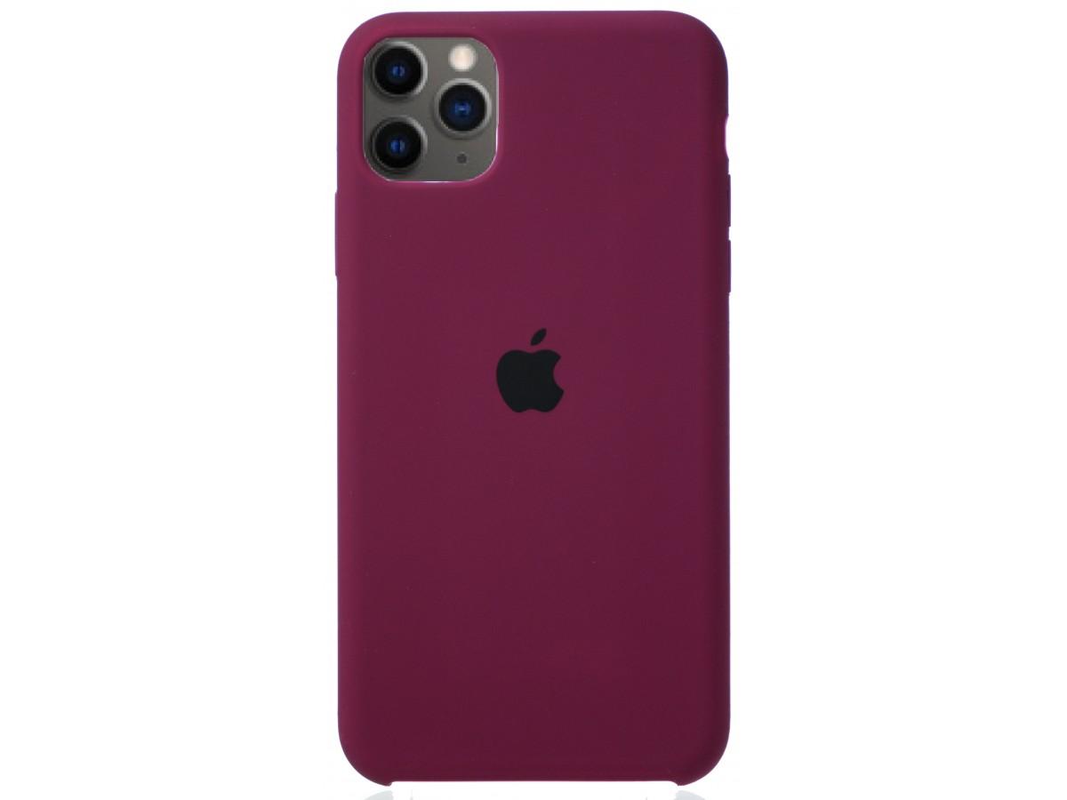 Чехол Silicone Case (С) iPhone 11 Pro Max марсала в Тюмени