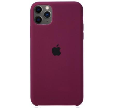 Чехол Silicone Case для iPhone 11 Pro Max марсала