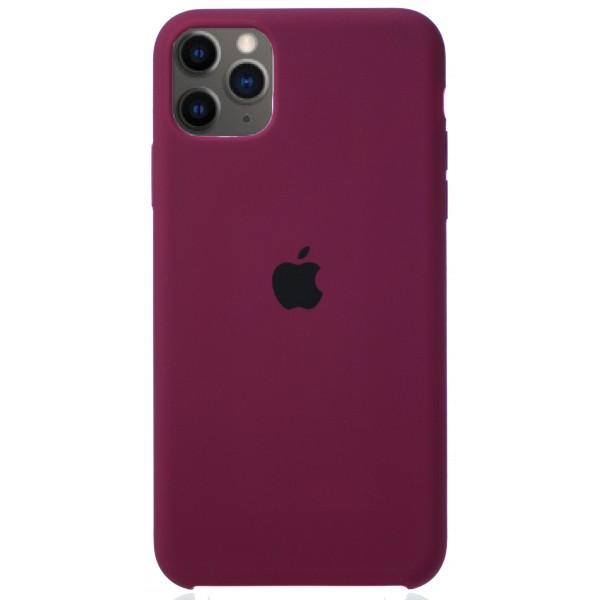 Чехол Silicone Case (С) iPhone 11 Pro Max марсала