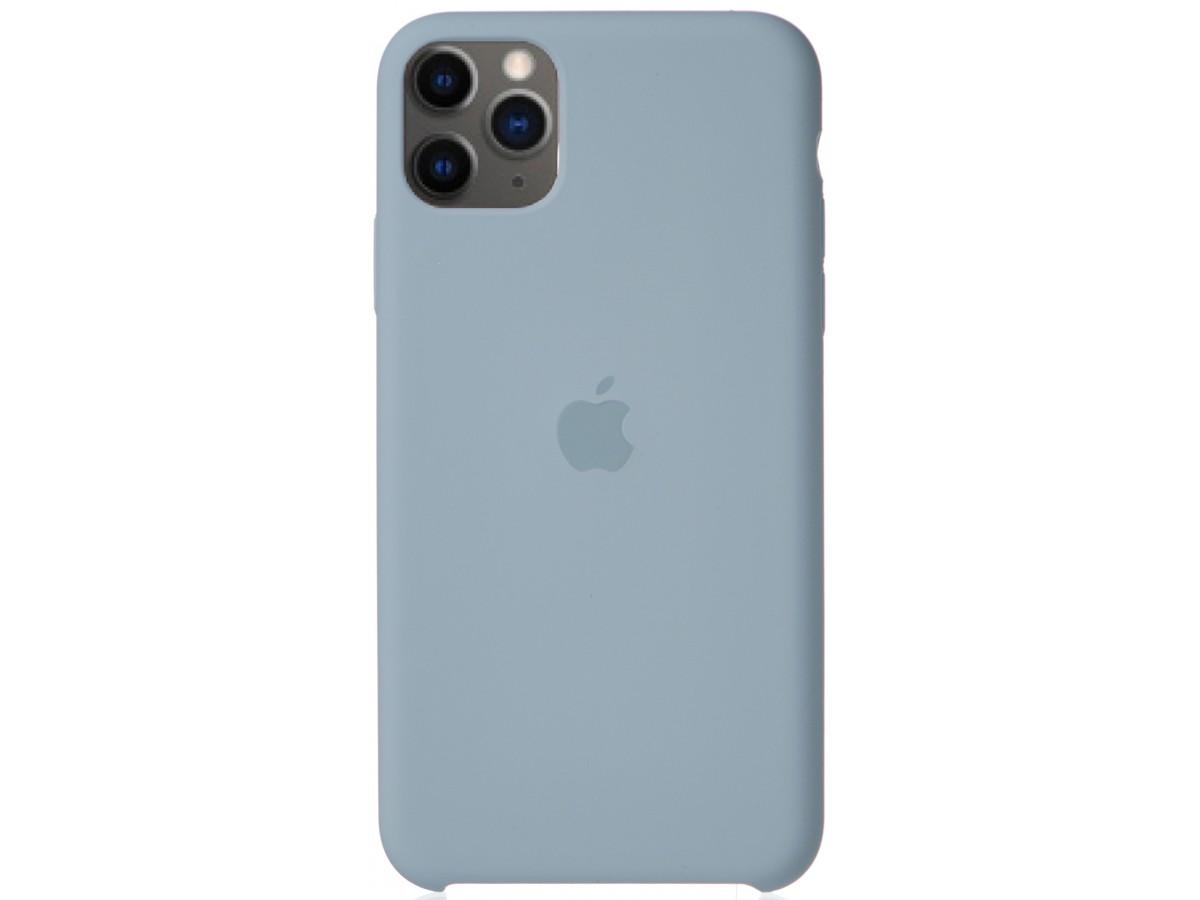 Чехол Silicone Case для iPhone 11 Pro Max светло-голубой в Тюмени