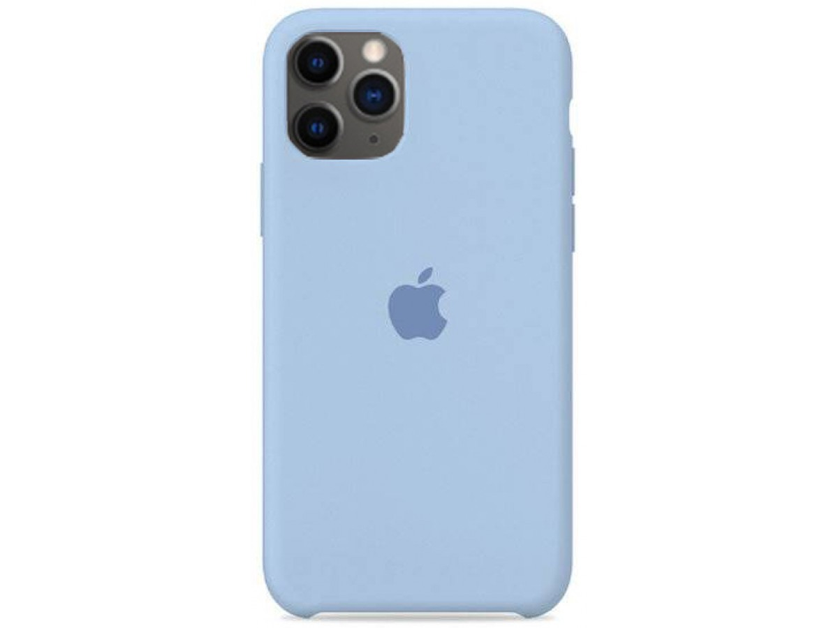 Чехол Silicone Case для iPhone 11 Pro светло голубой в Тюмени