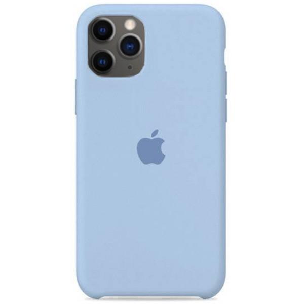 Чехол Silicone Case для iPhone 11 Pro светло голубой