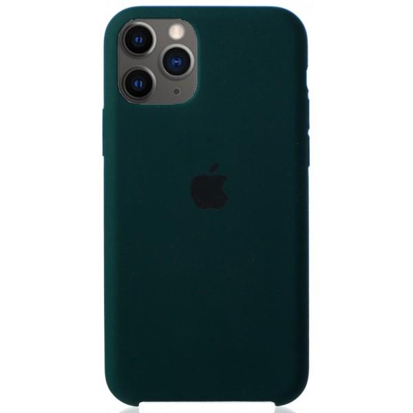 Чехол Silicone Case для iPhone 11 Pro темно-зеленый