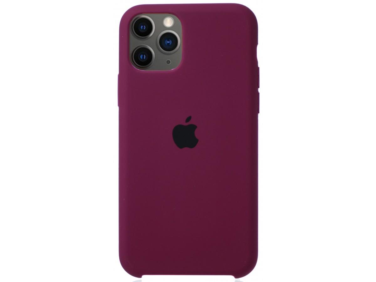 Чехол Silicone Case для iPhone 11 Pro марсала в Тюмени