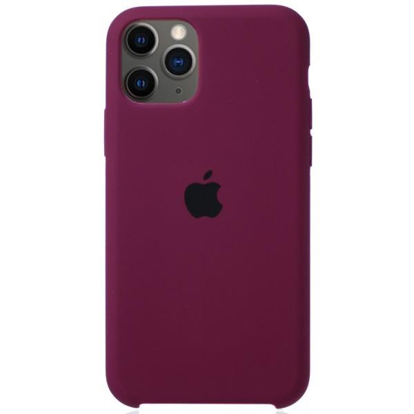 Чехол Silicone Case для iPhone 11 Pro марсала