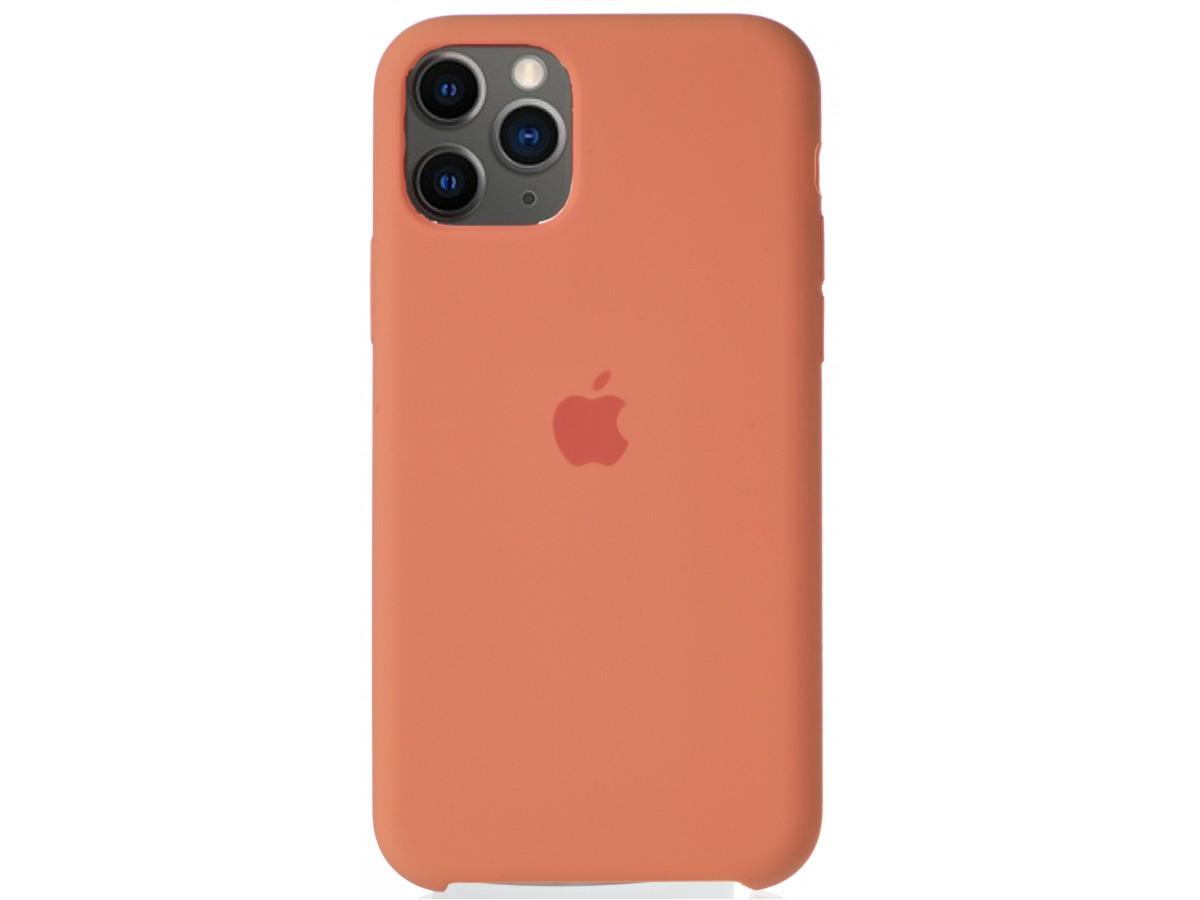 Чехол Silicone Case для iPhone 11 Pro персиковый в Тюмени