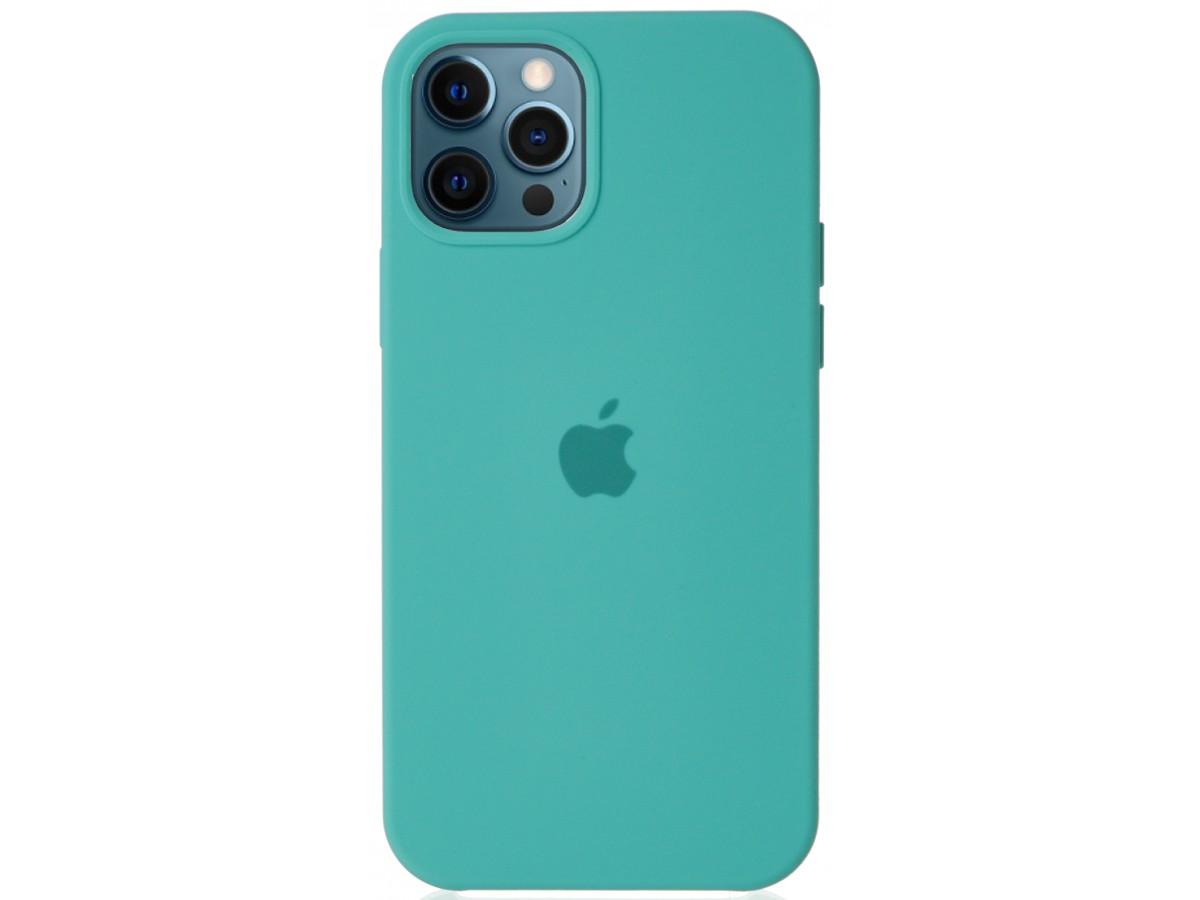Чехол Silicone Case для iPhone 12/12 Pro бирюзовый в Тюмени