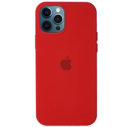 Чехол Silicone Case для iPhone 12/12 Pro красный