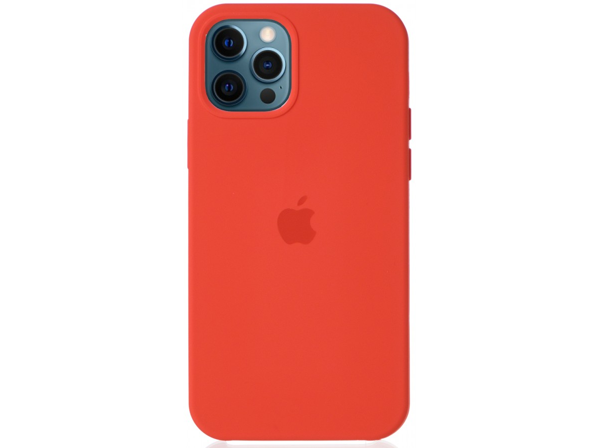 Чехол Silicone Case для iPhone 12/12 Pro оранжевый в Тюмени