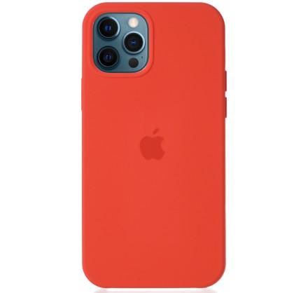 Чехол Silicone Case для iPhone 12/12 Pro оранжевый