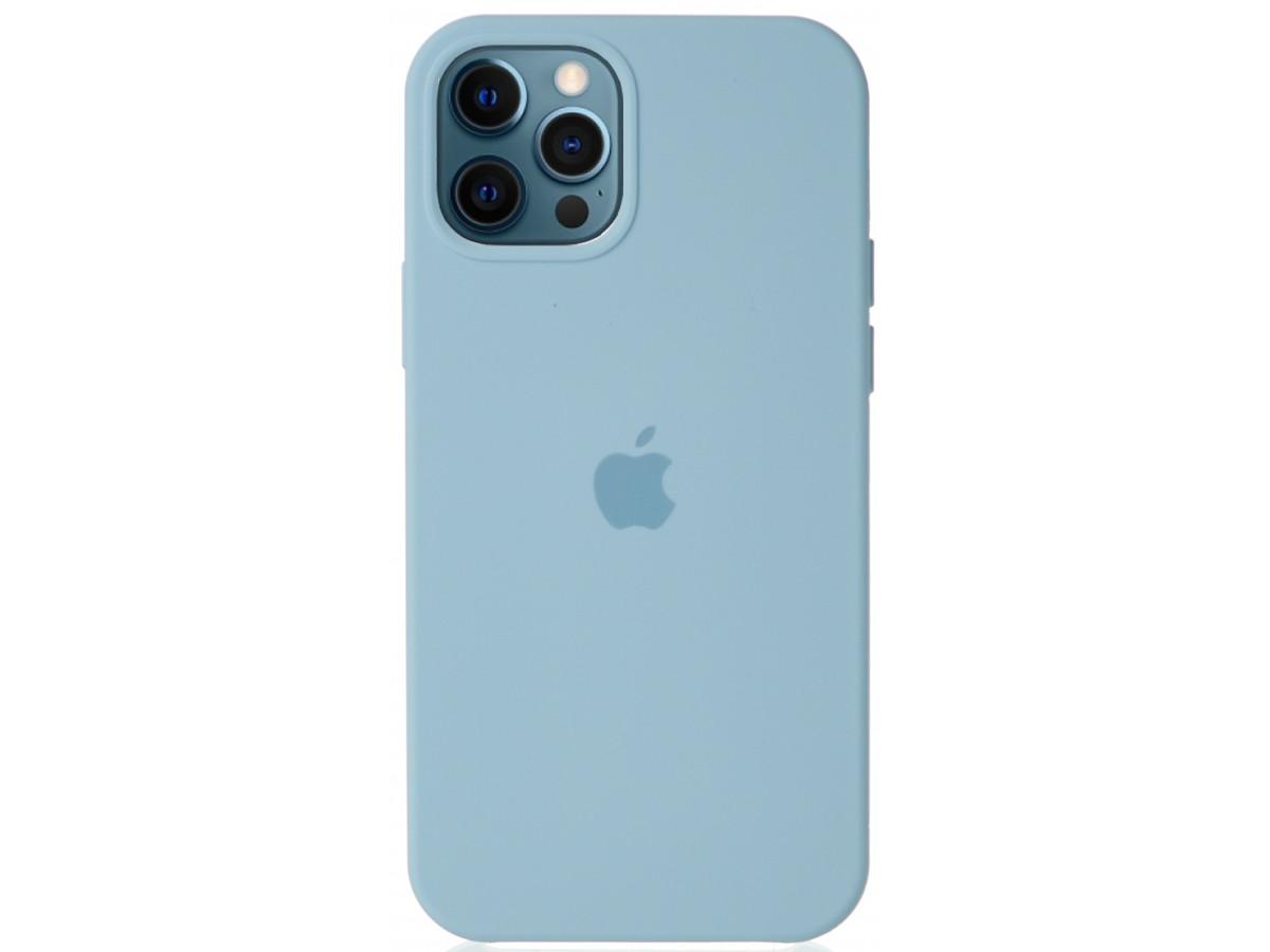 Чехол Silicone Case для iPhone 12/12 Pro светло-голубой в Тюмени