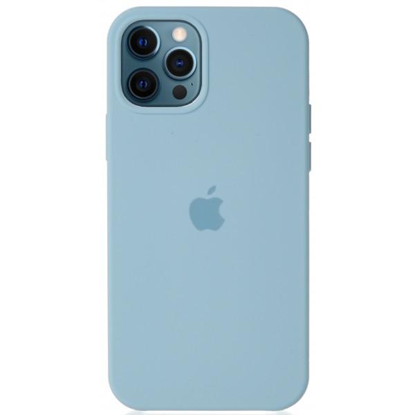 Чехол Silicone Case для iPhone 12/12 Pro светло-голубой