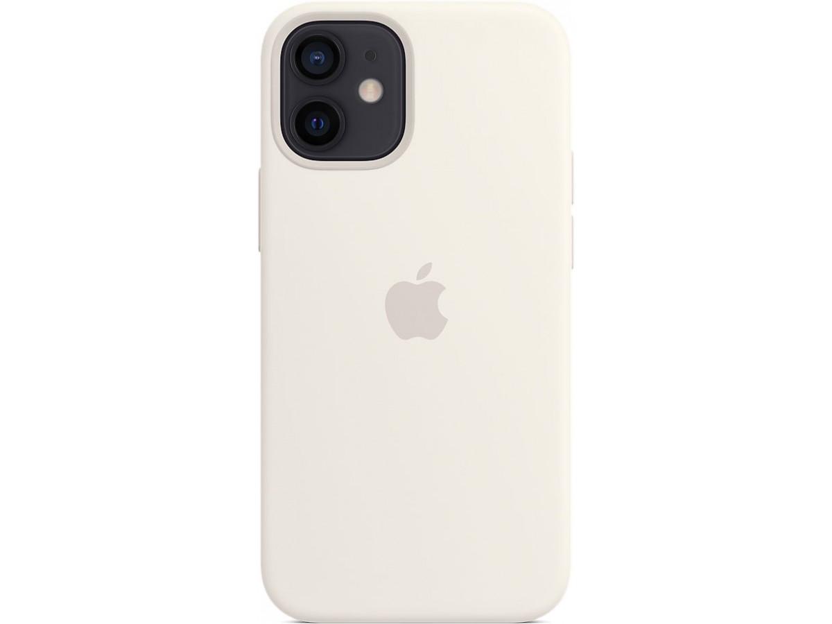 Чехол Silicone Case для iPhone 12 mini белый в Тюмени