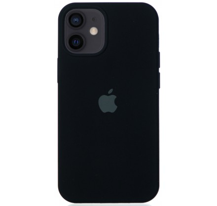 Чехол Silicone Case для iPhone 12 mini черный