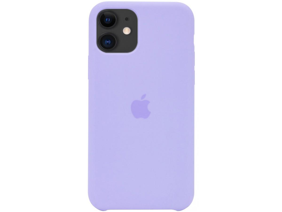 Чехол Silicone Case для iPhone 12 mini лавандовый в Тюмени