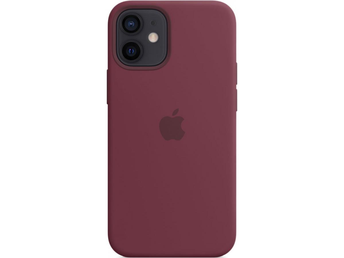 Чехол Silicone Case для iPhone 12 mini марсала в Тюмени