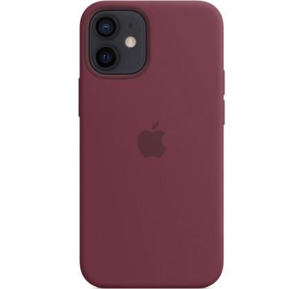 Чехол Silicone Case для iPhone 12 mini марсала