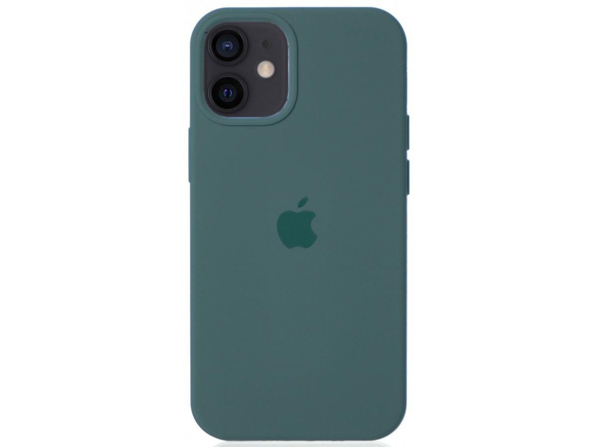 Чехол Silicone Case для iPhone 12 mini зеленый в Тюмени