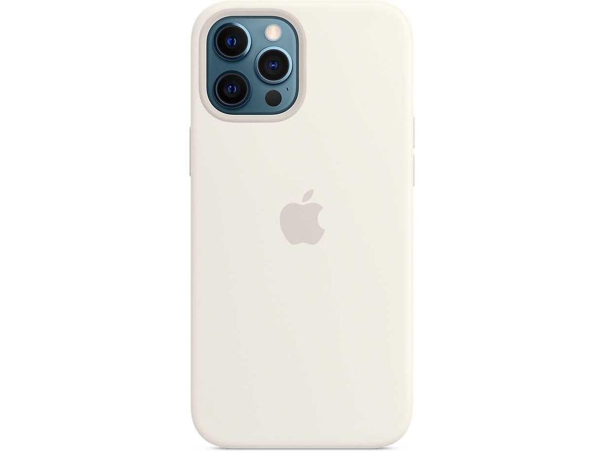 Чехол Silicone Case для iPhone 12 Pro Max белый в Тюмени