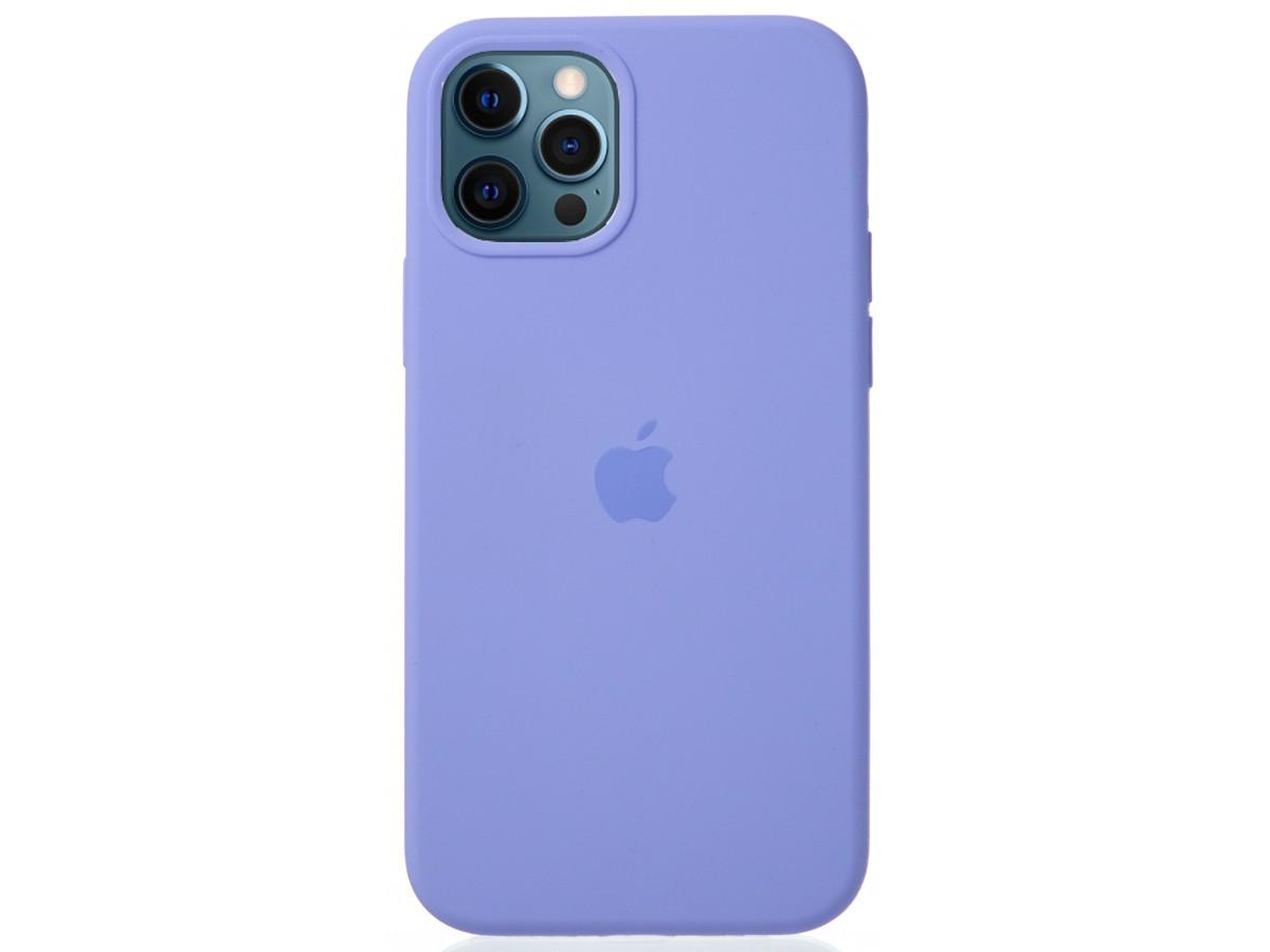 Чехол Silicone Case для iPhone 12/12 Pro лиловый в Тюмени