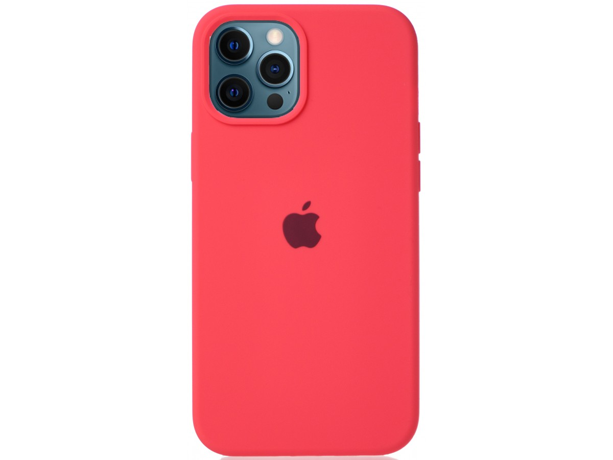 Чехол Silicone Case для iPhone 12 Pro Max розовый цитрус в Тюмени