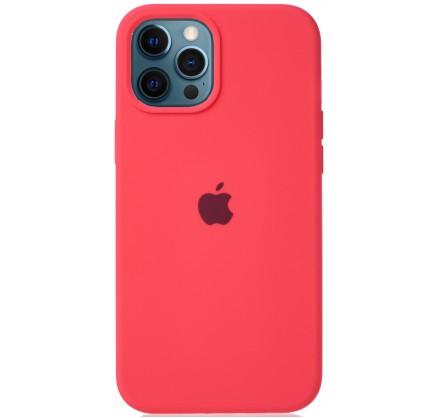 Чехол Silicone Case для iPhone 12 Pro Max розовый цитру...