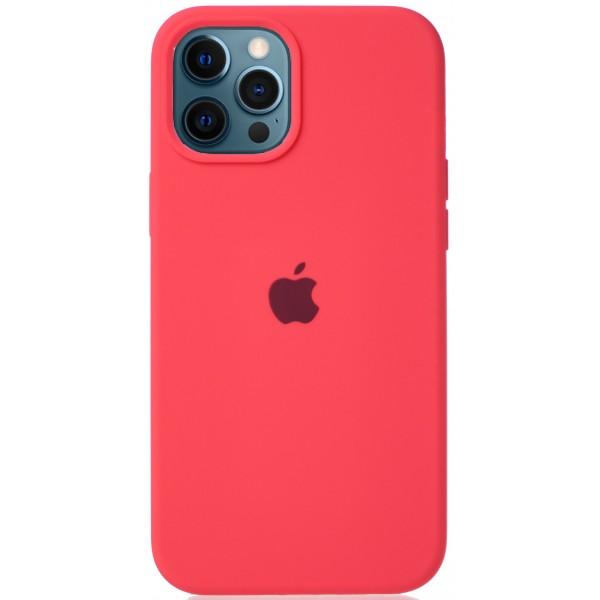 Чехол Silicone Case для iPhone 12 Pro Max розовый цитрус