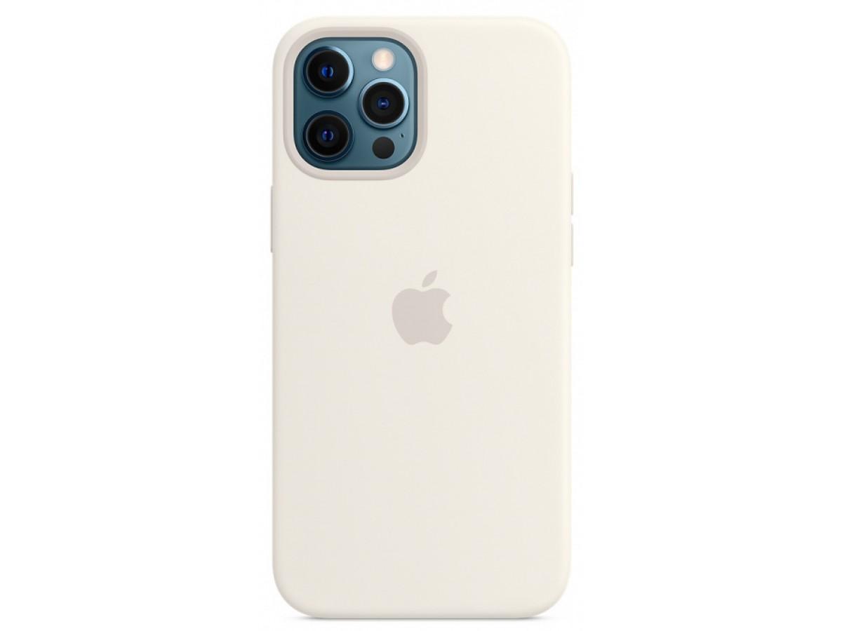 Чехол Silicone Case для iPhone 12/12 Pro белый в Тюмени