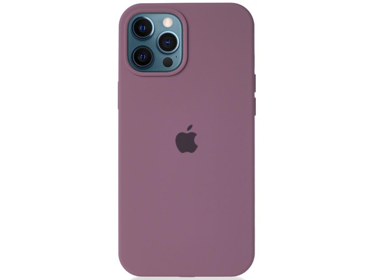 Чехол Silicone Case для iPhone 12 Pro Max черничный в Тюмени