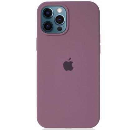 Чехол Silicone Case для iPhone 12 Pro Max черничный
