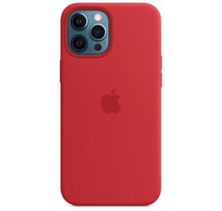 Чехол Silicone Case для iPhone 12 Pro Max красный