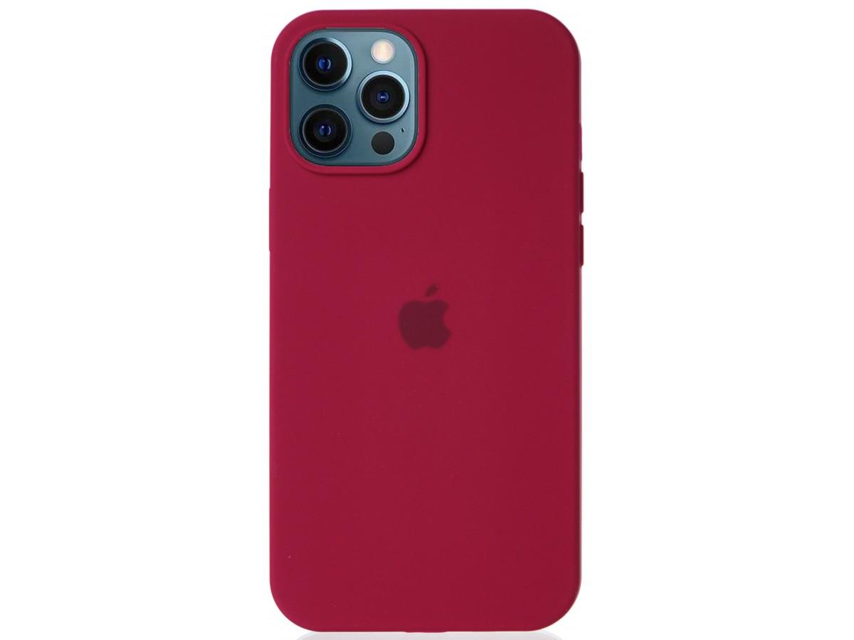 Чехол Silicone Case для iPhone 12 Pro Max малиновый в Тюмени