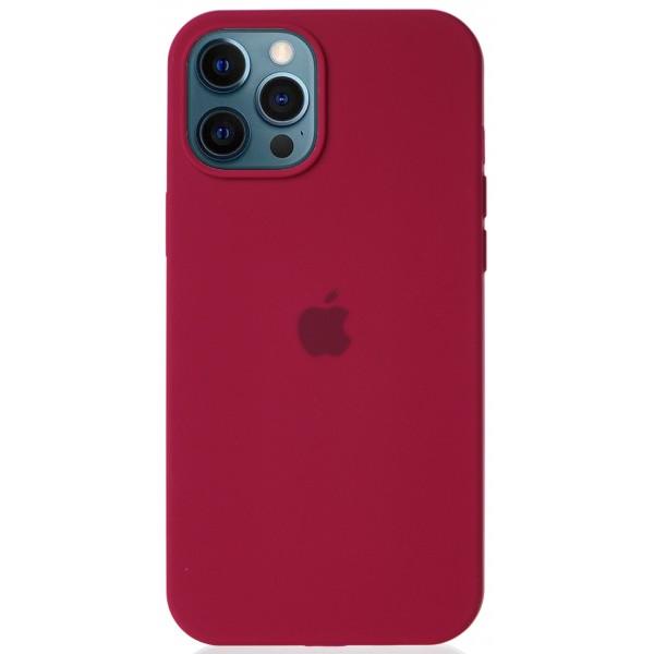 Чехол Silicone Case для iPhone 12 Pro Max малиновый