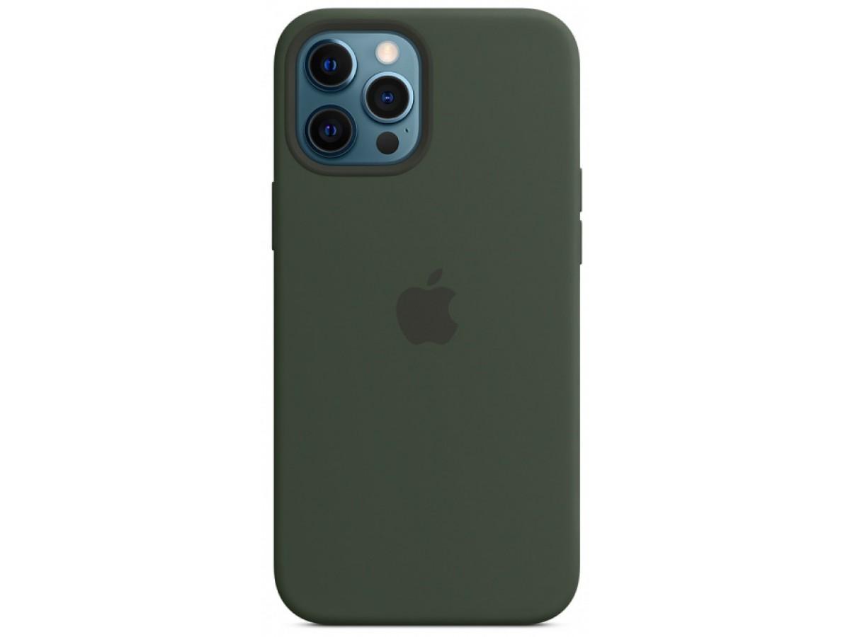 Чехол Silicone Case для iPhone 12 Pro Max зеленый в Тюмени