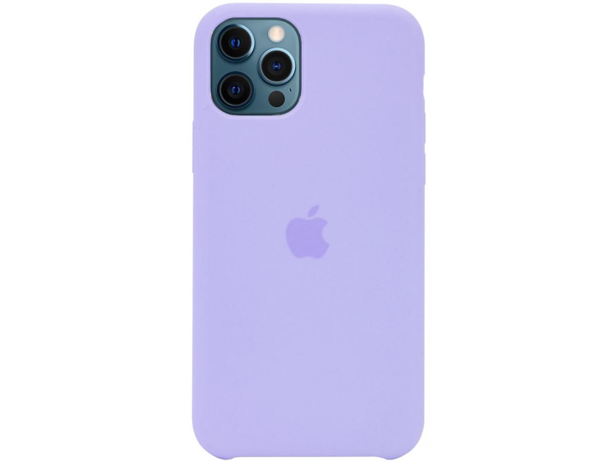 Чехол Silicone Case для iPhone 12/12 Pro лавандовый в Тюмени