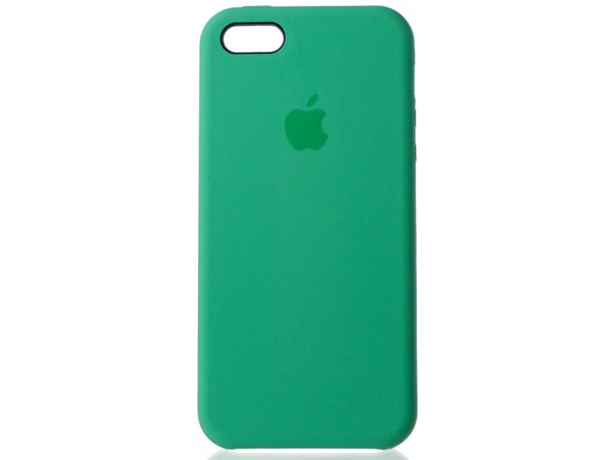 Чехол Silicone Case для iPhone 5/5s/SE зеленый в Тюмени