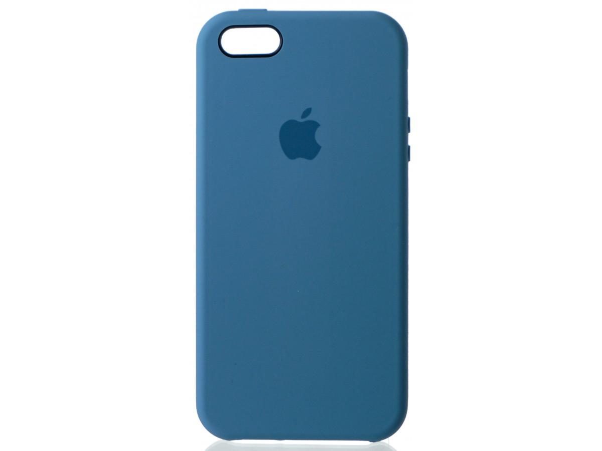 Чехол Silicone Case для iPhone 5/5s/SE голубой в Тюмени