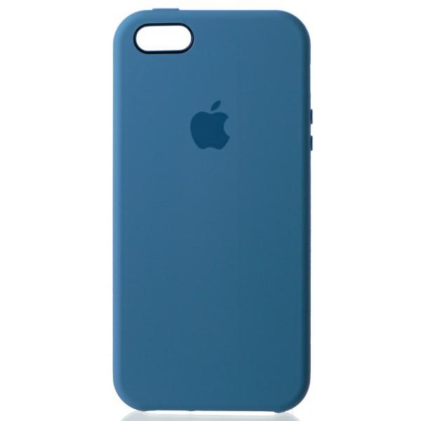 Чехол Silicone Case для iPhone 5/5s/SE голубой