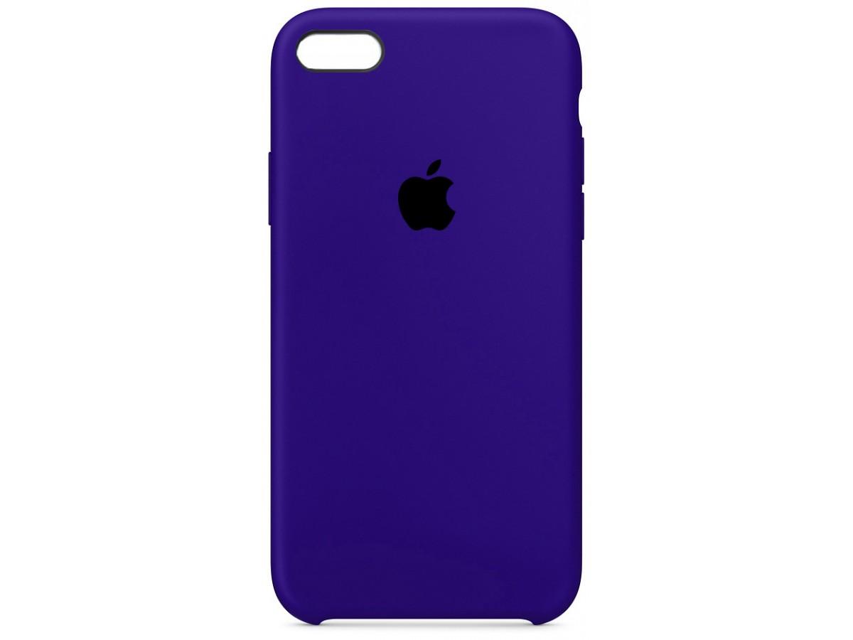 Чехол Silicone Case для iPhone 5/5s/SE темно-фиолетовый в Тюмени