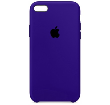 Чехол Silicone Case для iPhone 5/5s/SE темно-фиолетовый