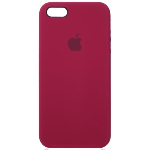 Чехол Silicone Case для iPhone 5/5s/SE бордовый