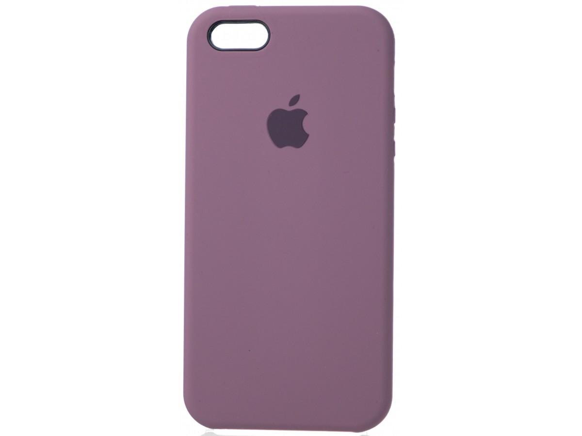Чехол Silicone Case для iPhone 5/5s/SE черничный в Тюмени