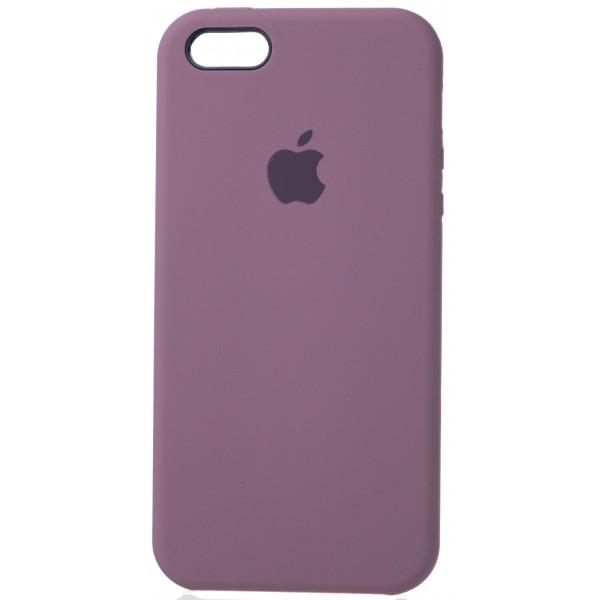Чехол Silicone Case для iPhone 5/5s/SE черничный